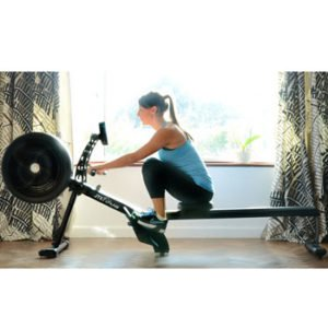 JTX Freedom Air Rower with Wireless Chest Strap